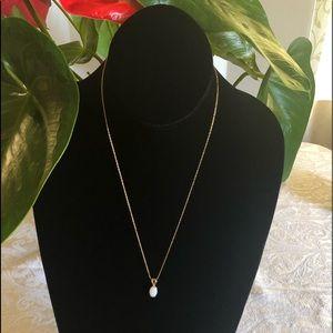 Jewelry - 14K Yellow Gold Chain & Opal Pendant